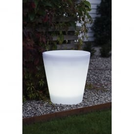 Assisi Large Acrylic Illuminated LED Plant Pot