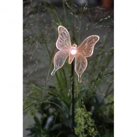 Assisi LED Solar Outdoor Butterfly Ground Spike Light With Colour Changing LED's