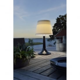 Assisi Solar Outdoor LED Table Lamp with Black Base
