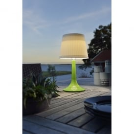 Assisi Solar Outdoor LED Table Lamp With Green Base