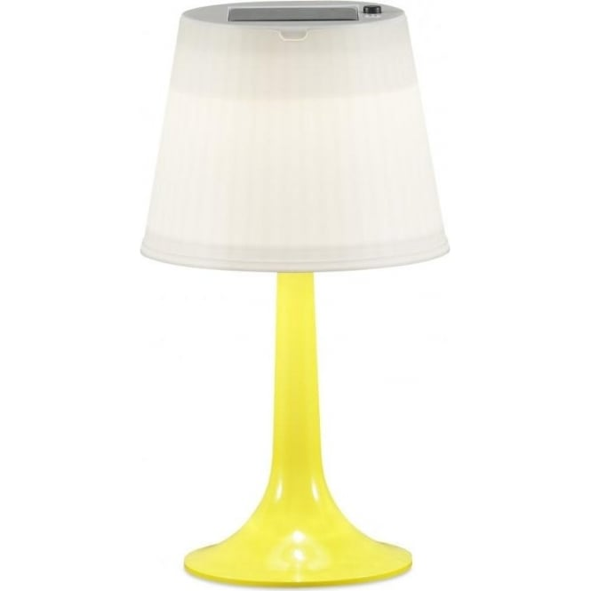 Outdoor Table Lamp Led: Konstsmide Assisi Solar Outdoor LED Table Lamp With Yellow