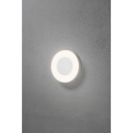Carrara Single Light High Powered Dimmable LED Wall Fitting in Aluminium