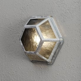 Castor Single Light Galvanised Outdoor Wall or Ceiling Fitting