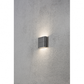 Chieri 2 Light High Powered LED Wall Fitting in Painted Grey Finish