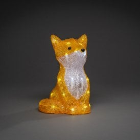 6275-203 Acrylic Sitting Fox with 32 White LED's