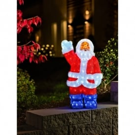 Acrylic Santa Figure with 200 LED Lights
