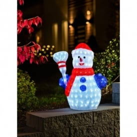Acrylic Snowman with 200 LED's
