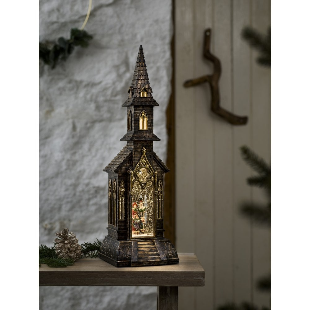 Konstsmide Christmas Battery Operated Church Water Lantern