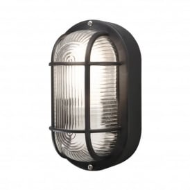 Elmas Single Light Outdoor Wall Fitting in Black Finish
