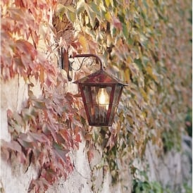 Fenix Single Light Solid Copper Downwards Outdoor Wall Lantern