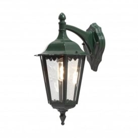 Firenze Downward Single Light Outdoor Wall Fitting in Green Finish