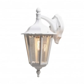 Firenze Downward Single Light Outdoor Wall Fitting in White Finish