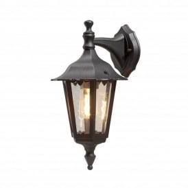 Firenze Downward Single Light Small Outdoor Wall Fitting in Black Finish