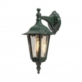 Firenze Downward Single Light Small Outdoor Wall Fitting in Green Finish