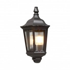 Firenze Single Light Outdoor Flush Wall Fitting in Black Finish