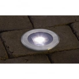 Konstsmide Single LED Battery Operated Solar Ground Outdoor Spotlight