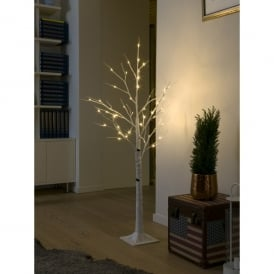 LED Decorative White Birch Tree with 48 LED's
