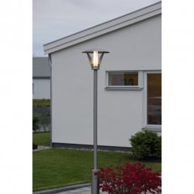 Livorno Single Light Low Energy Large Lamp Post in Stainless Steel