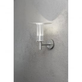 Mode LED Single Light Outdoor Wall Fitting In Galvanised Steel Finish With Rough Service Protection