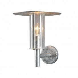 Mode Single Light Outdoor Wall Lantern in Galvanised Finish