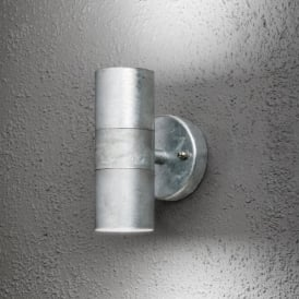 Modena 2 Light Exterior Galvanised Wall Fitting