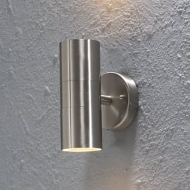 Modena 2 Light Exterior Wall Fitting in Stainless Steel