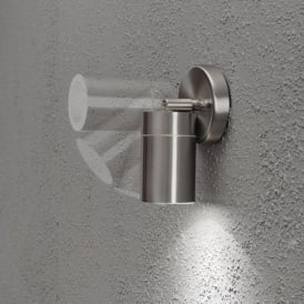 Modena Single Light Adjustable Low Energy Outdoor Wall Fitting in Stainless Steel