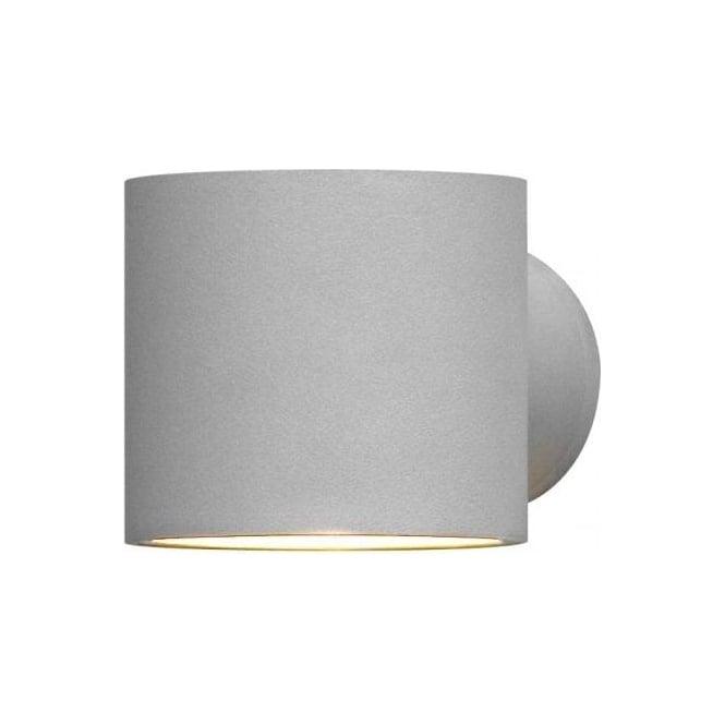 Halogen Exterior Wall Lights : Konstsmide Modena Single Light Halogen Exterior Round Wall Fitting in Light Grey Finish ...