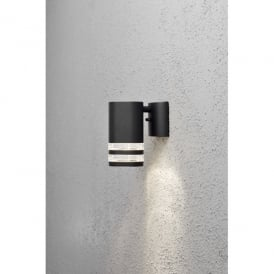 Modena Single Light Outdoor Wall Fitting in Black