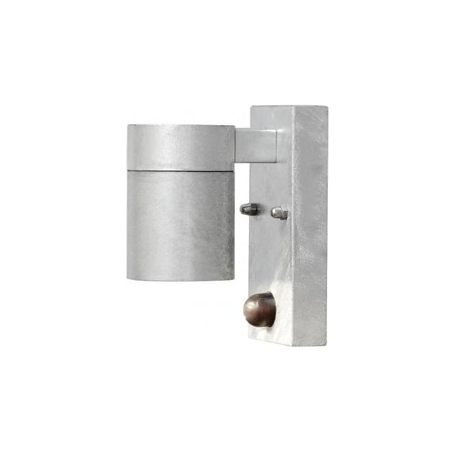 Konstsmide modena single light outdoor wall fitting in galvanised modena single light outdoor wall fitting in galvanised steel finish with pir sensor mozeypictures Gallery