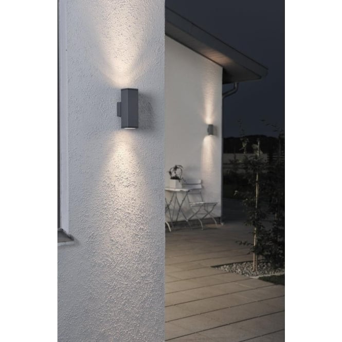 Konstsmide monza 2 light up and down rectangular external wall monza 2 light up and down rectangular external wall fixture in anthracite finish aloadofball Choice Image