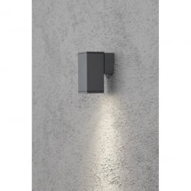 Monza Single Light Outdoor Downlighter in a Anthracite Finish