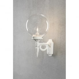 Orion Single Light Wall Fitting in White Finish.