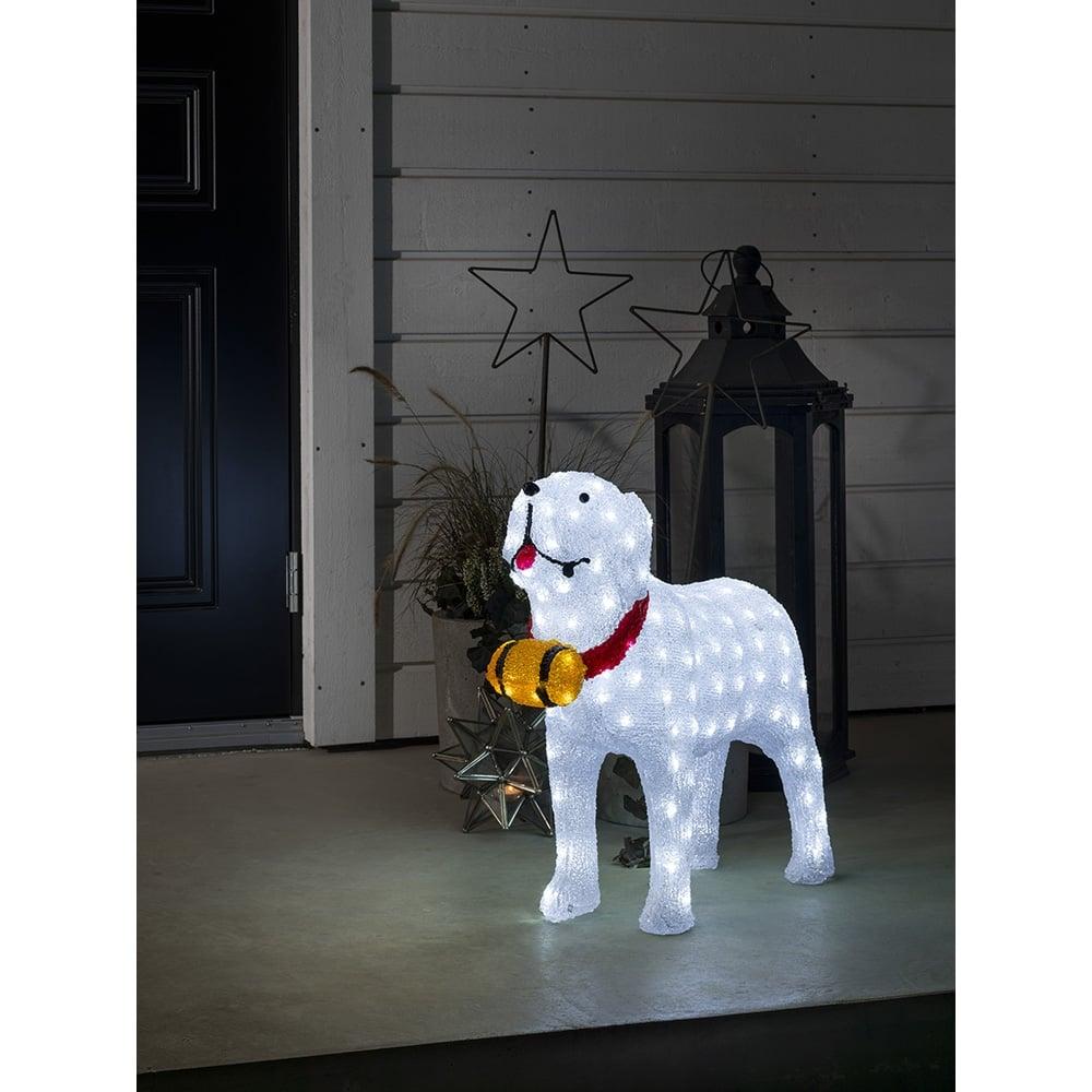 Konstsmide konstsmide outdoor acrylic st bernard dog with 160 white konstsmide outdoor acrylic st bernard dog with 160 white mozeypictures Images