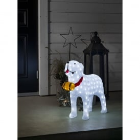 Konstsmide Outdoor Acrylic St Bernard Dog with 160 White LED's