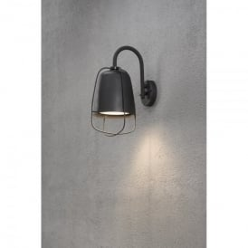 Perugia Single Outdoor Wall Light in Painted Aluminium Finish and Opal Glass