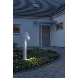 Potenza Single Light LED Outdoor Post Light in White Painted Finish