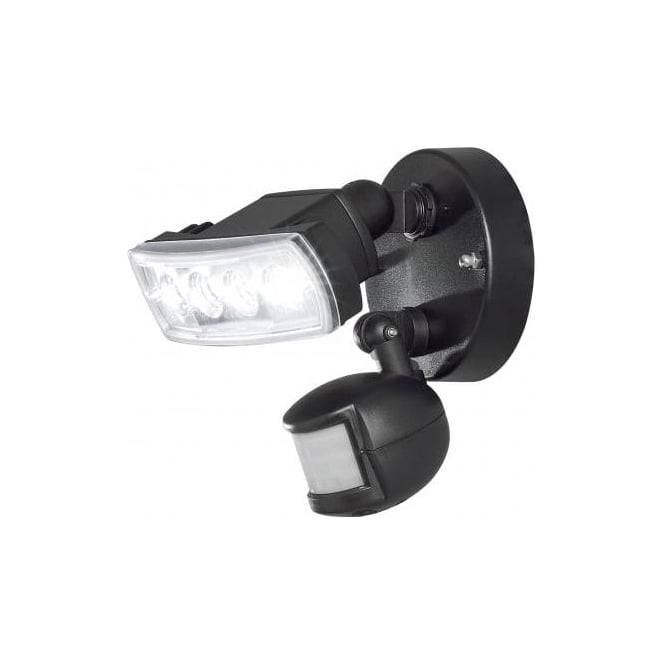 Konstsmide prato 4 light high power led security light with pir in prato 4 light high power led security light with pir in black mozeypictures Image collections