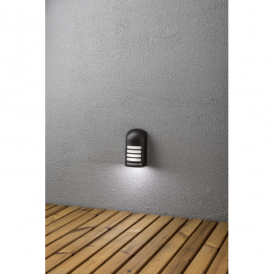 Prato LED Battery Operated Deck Light in Black Finish with PIR