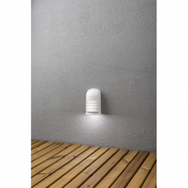 Prato LED Battery Operated Deck Light in White Finish with PIR