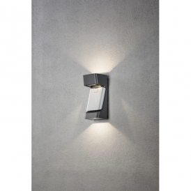 Ravenna 3 Light High Powered Dimmable LED Wall Fitting in Grey Painted Aluminium Finish