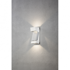 Ravenna 3 Light High Powered Dimmable LED Wall Fitting in White Painted Aluminium Finish