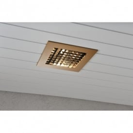 Recessed Exterior Ceiling Fitting in Copper Finish