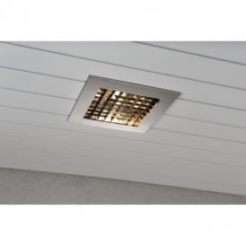 Recessed Exterior Ceiling Fitting in Stainless Steel