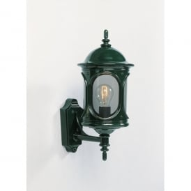 Rigel Single Light Outdoor Wall Fitting in Green Finish