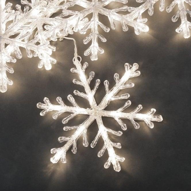 Konstsmide set of 5 warm white led snowflake lights castlegate lights set of 5 warm white led snowflake lights mozeypictures Images