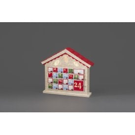 Silhouette Wooden Advent Calendar With Warm White LED's