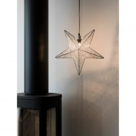 Silver Wire Star Light