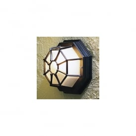 Single Light Wall or Ceiling Porch Light in a Black Finish