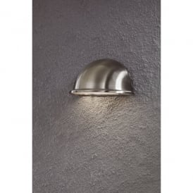 Torino Single Light Low Energy Outdoor Wall Fixture in Stainless Steel